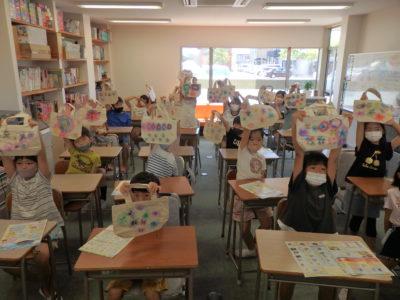 移動児童館で「ぼかし絵バッグ」作ったよ!